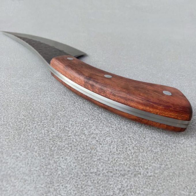 Tranche du couteau de pique-nique en damas