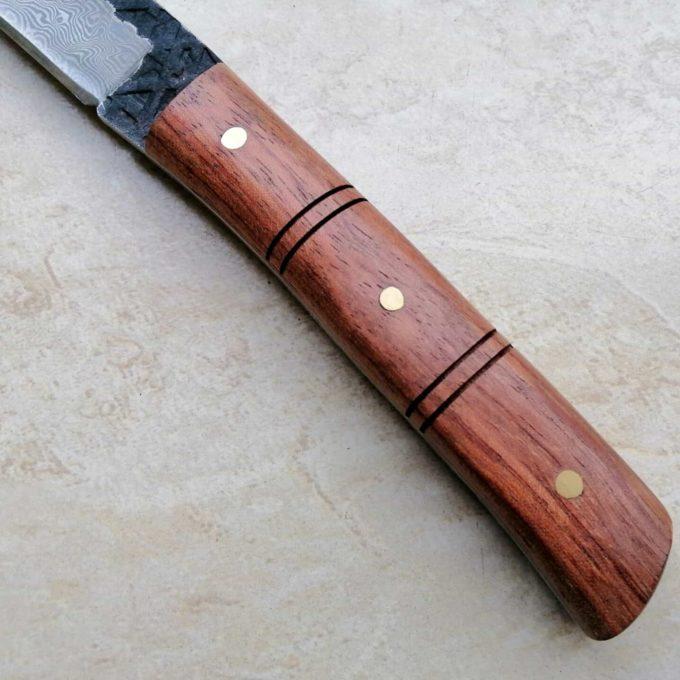 manche du couteau à éplucher damas