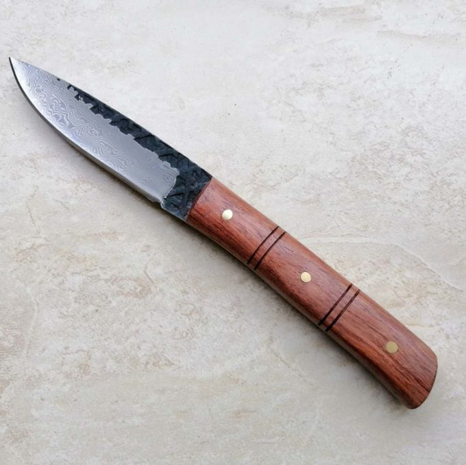 couteau à éplucher damas